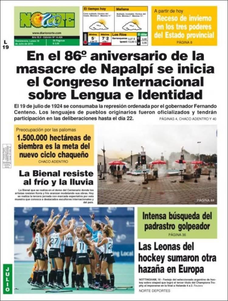 Portada de Diario Norte - Resistencia (Argentine)