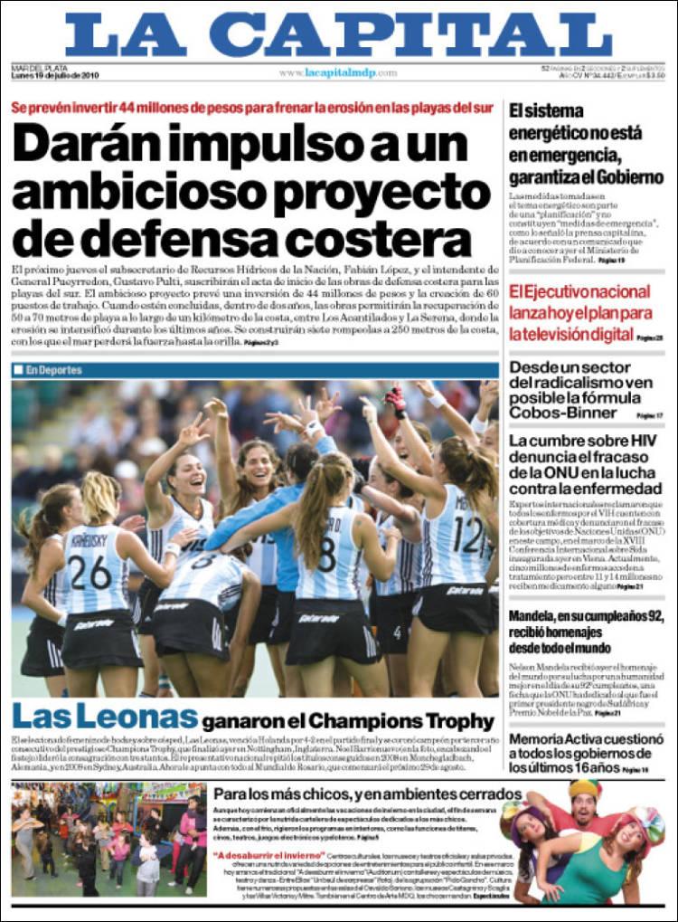 Portada de Diario La Capital - Mar del Plata (Argentine)