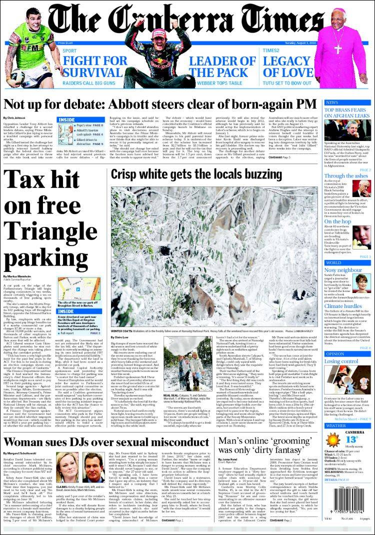 canberra times - photo #7