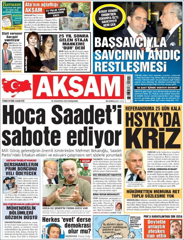 La portada de Aksam