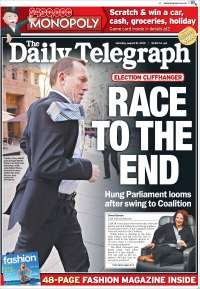 Portada de The Daily Telegraph (Australia)