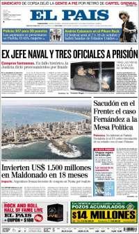 Portada de El País (uy)