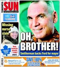 Portada de The Toronto Sun (ca)