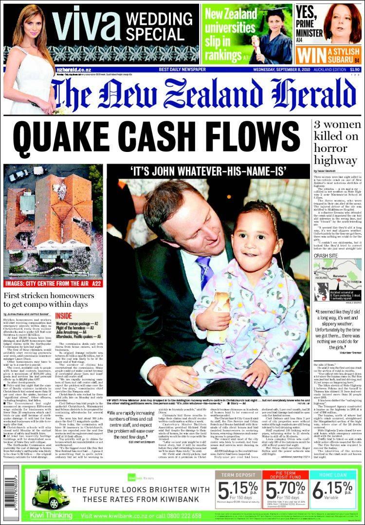 Portada de The New Zealand Herald (nz)