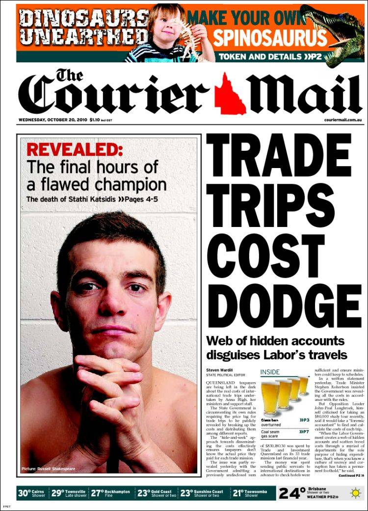 newspaper the couriermail australia front pages from