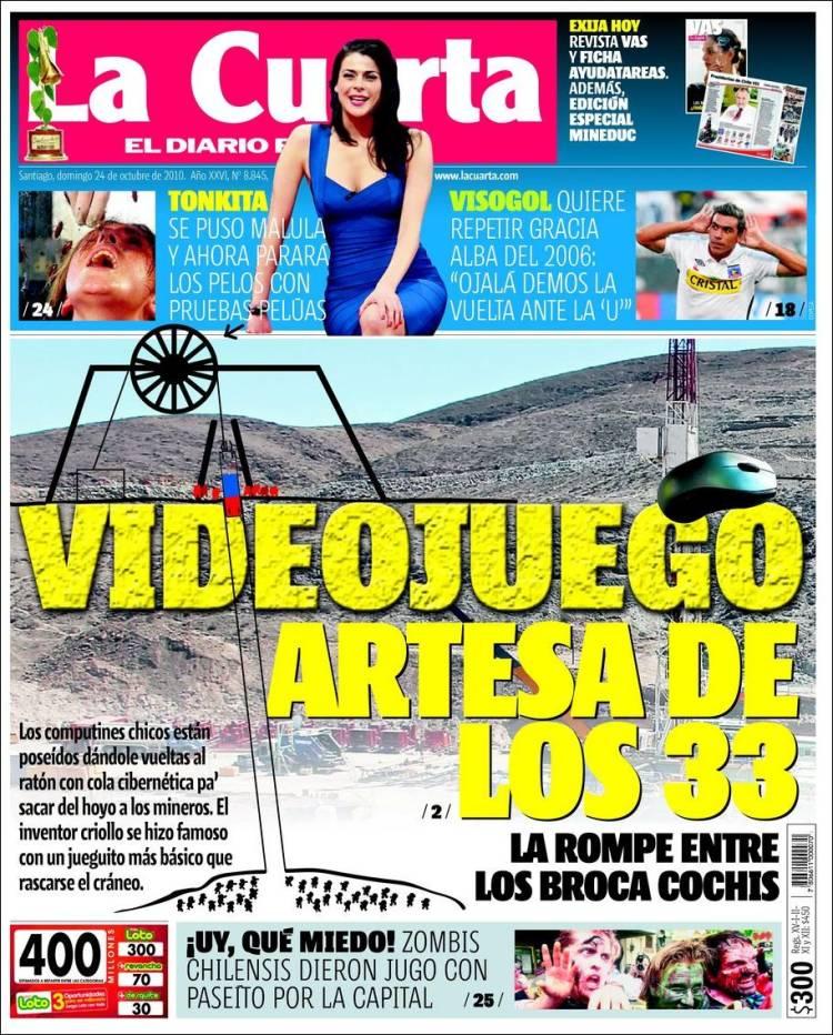 Portada del periódico La Cuarta (Chile). Todos los periódicos de ...
