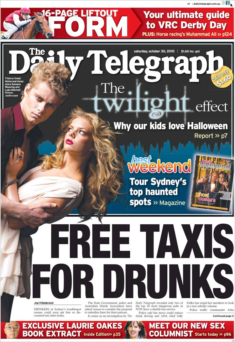 Newspaper The Daily Telegraph Australia Front Pages From