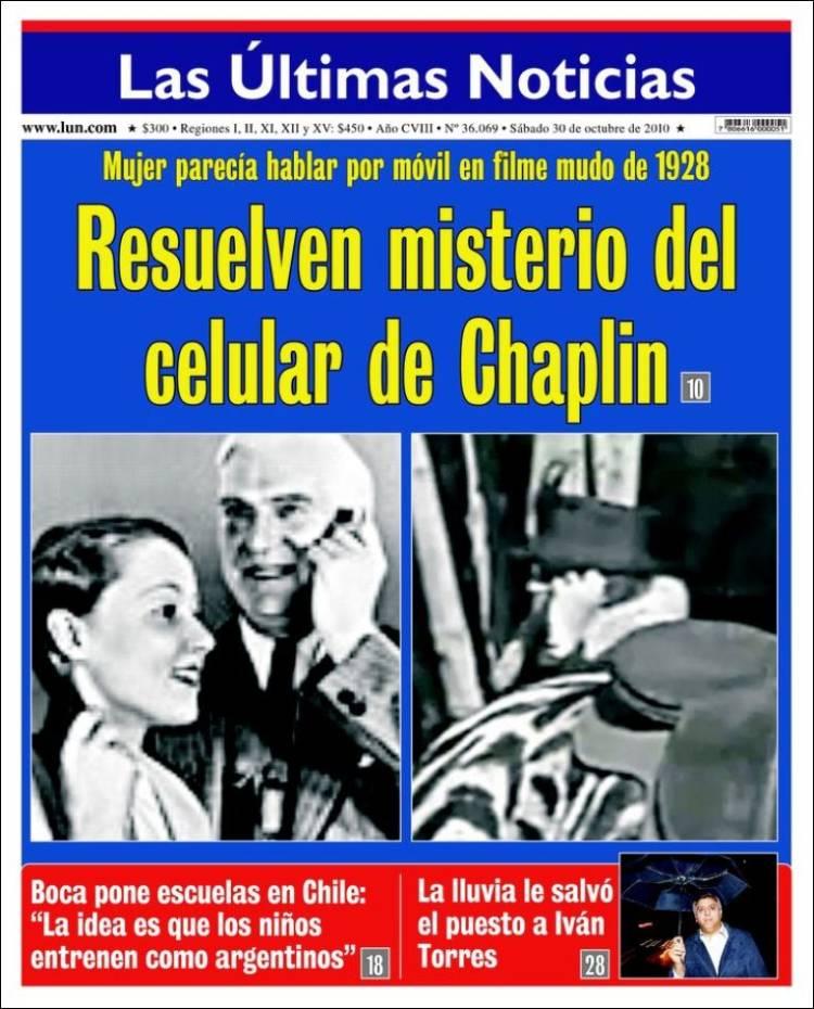 Portada del peri dico las ltimas noticias chile todos for Ultimas noticias dela farandula