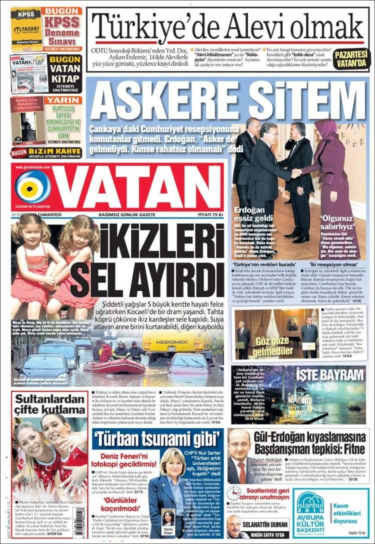 Portada de Vatan (Turkey)
