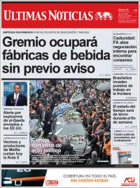 Portada de Últimas Noticias (Uruguay)