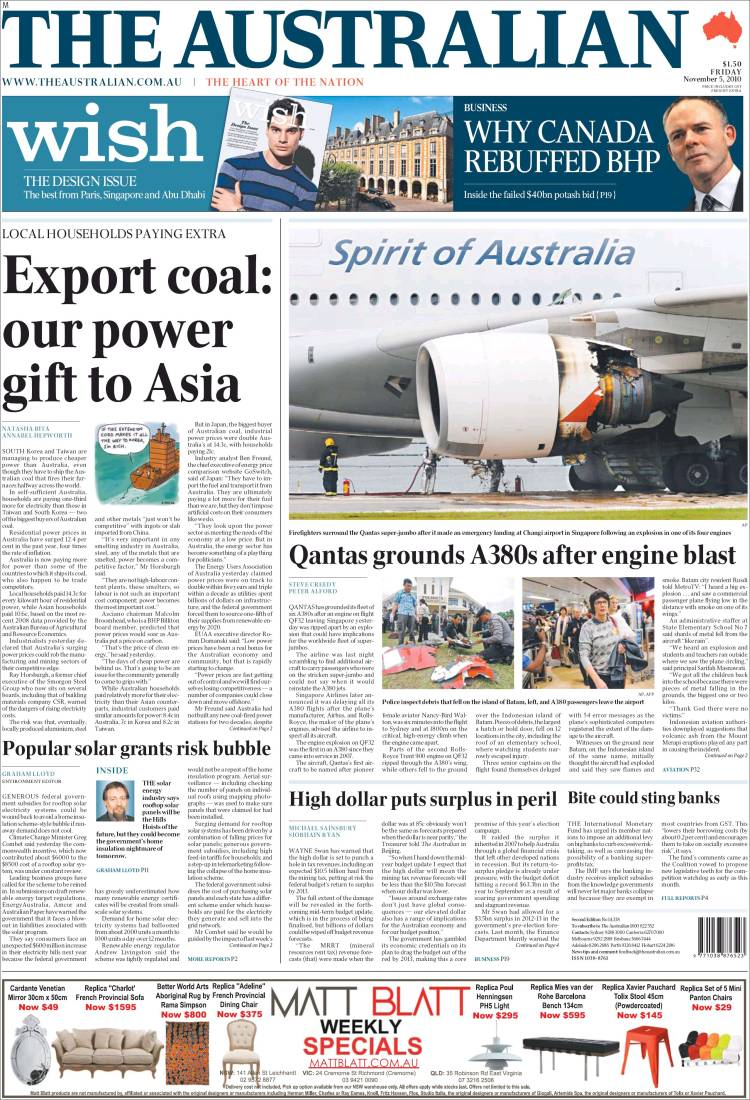 newspaper the australian  australia   front pages from newspapers in australia  friday u0026 39 s edition