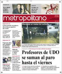Portada de Diario Metropolitano (Venezuela)