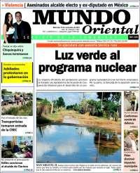 Portada de Mundo Oriental (Venezuela)