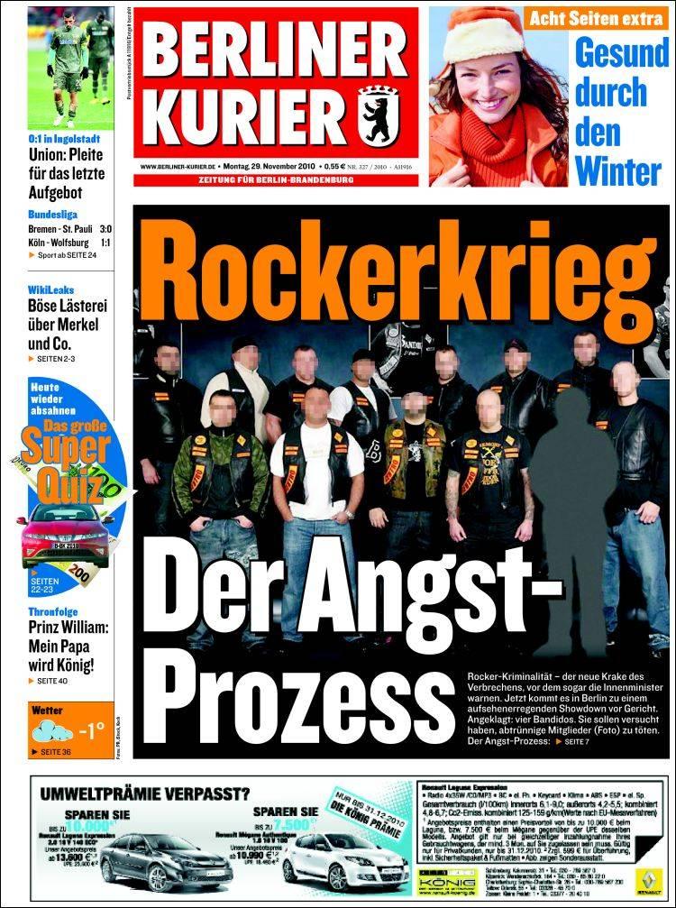 Portada de Berliner Kurier - Startseite BK (Alemania)