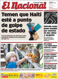 Portada de El Nacional (R. Dominicana)