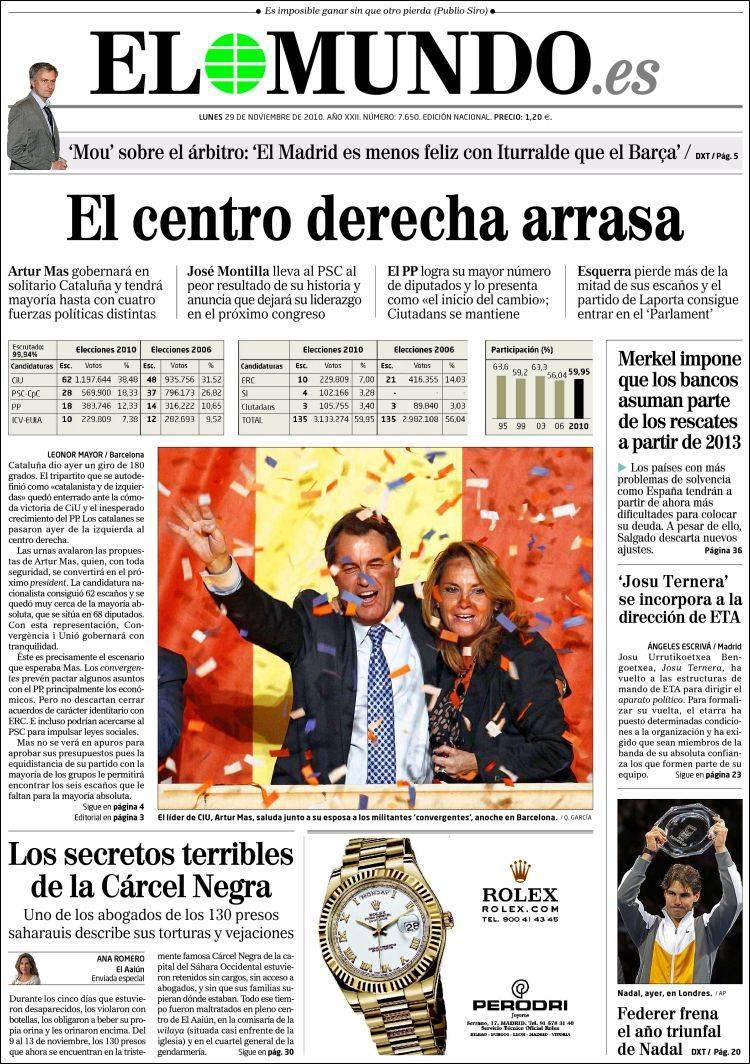 Portades dels diaris espanyols mireu la foto que han for Paginas de chimentos argentina