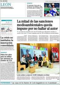 Portada de El Mundo de Valladolid (España)