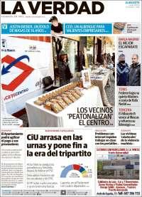 Portada de La Verdad de Albacete (España)