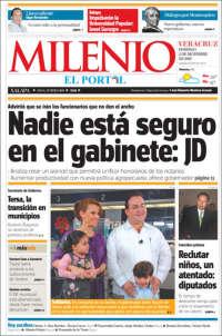 Portada de Milenio de Xalapa (México)