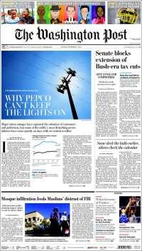 Portada de Washington Post (USA)