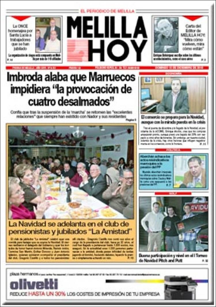 Portada de Melilla Hoy (España)