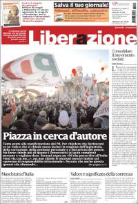 Portada de Liberazione (Italia)