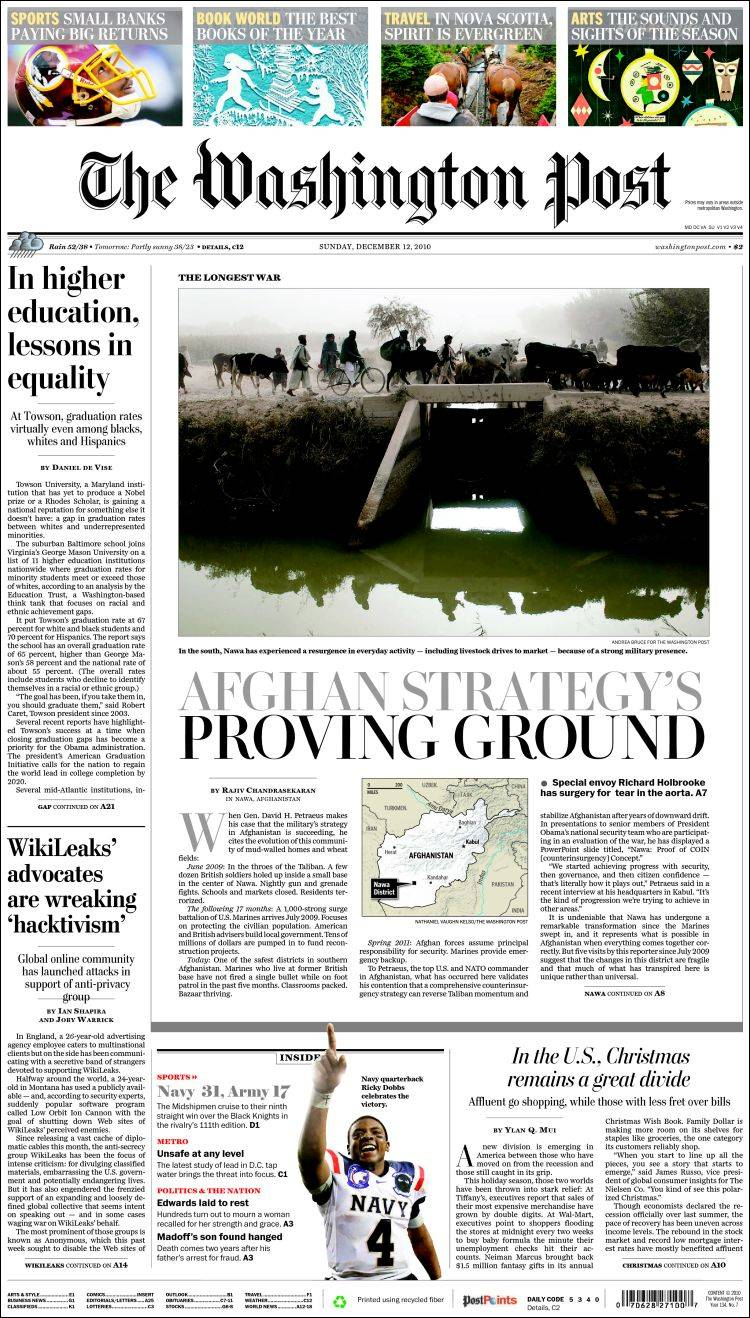 Portada de Washington Post (USA)