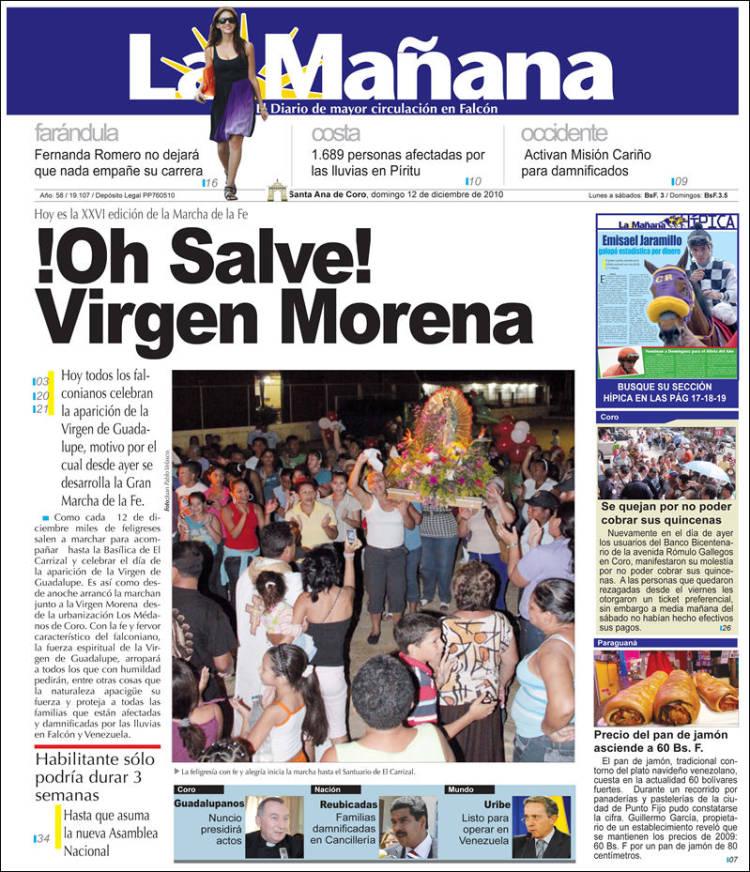 Portada de La Mañana (Venezuela)