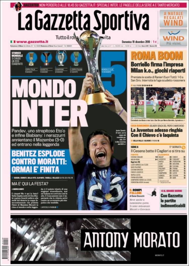newspaper la gazzetta dello sport italy front pages from newspapers in italy sunday 39 s. Black Bedroom Furniture Sets. Home Design Ideas