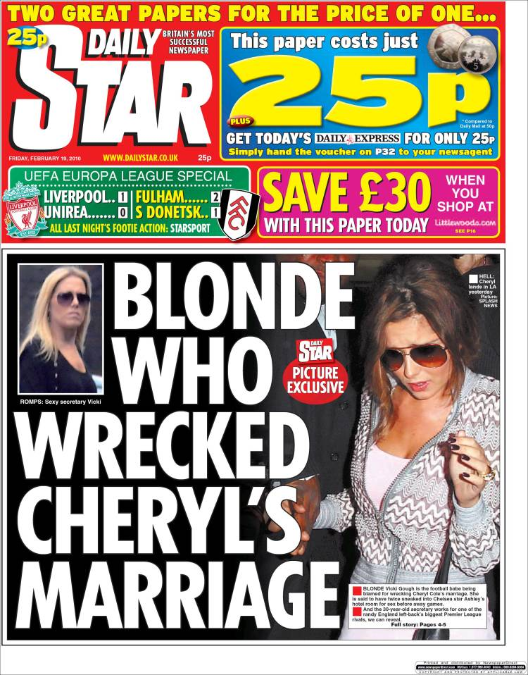 Daily Star front page — Digital Spy